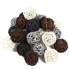 Wicker Balls For Decoration Inspiration Amazon Juvale 32Pack Multiple Color Wicker Rattan Balls