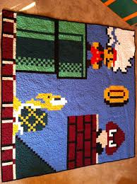 Mario Quilt | Sew Patched Up & Mario Quilt Adamdwight.com