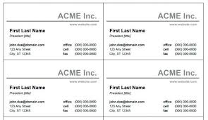 Expert Ms Office Business Card Template 29846