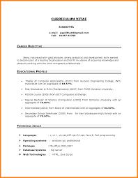 career objectives for resume  resume for study