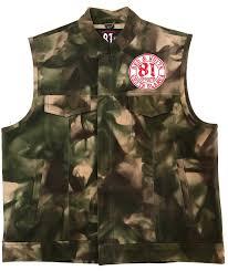leather vest waistcoat jacket camouflage angels world support