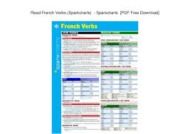 Read French Verbs Sparkcharts Sparkcharts Pdf Free
