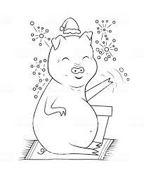 本豚と花火のぬりえ 12星座のベクターアート素材や画像を多数ご用意