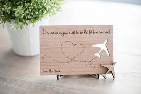 long distance relationship gifts wooden postcard