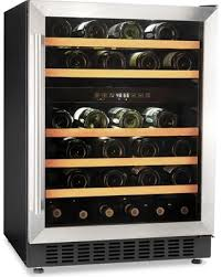 built in dual zone wine cooler. Simple Wine Morvan BuiltIn Dual Zone 46Bottle Compressor Wine Cooler And Built In F