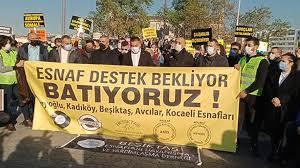 Esnaf dernekleri ve çalışanlarından Kadıköy'de eylem: Esnafın ayakta  kalacak gücü kalmadı