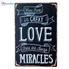 Quote Plaques Simple Where There Is Great Love Retro Vintage Tin Signs Quote Metal Plaque