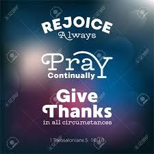 La Citation Chrétienne De Bible Pour Lusage Comme Affiche Ou Volent Au Sujet De Se Réjouir Prie Et Rend Grâce De Thessalonians