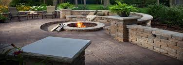 hunting valley ohio nicely appointed paver patio with fire feature and seating wall