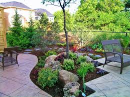 Decorative Stones For Flower Beds Garden Landscaping Idea For Small Backyard With Decorative Stones