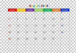 Calendar 0 Pdf Template Microsoft Excel Png Clipart 2018