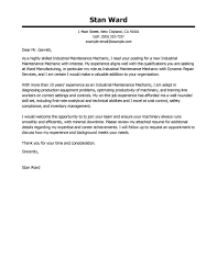 Best Industrial Maintenance Mechanic Cover Letter Examples