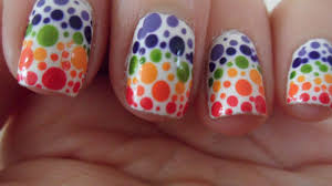 Assortment of Photos in Which Multi Color Nail Art is Shown for ...