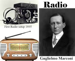 "Research and Invention - Radio Year: 1895 Inventor: Guglielmo Marconi In  1895, a young Italian named Gugliemo Marconi invented what he called ""the  wireless telegraph"" while experimenting in his parents' attic. He"