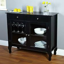 details about black kitchen sideboard buffet console table glass doors drawers antique style