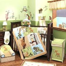 lion themed nursery jungle nursery lamp enchanted forest 5 piece baby crib bedding set by lambs
