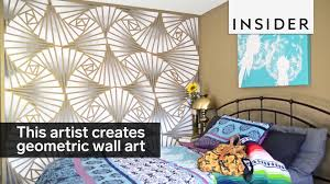 Small Picture This artist creates stunning geometric wall designs YouTube