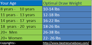 This Chart Are Showing Draw Weight For Following Archers