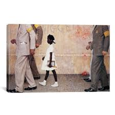 icanvas norman rockwell the problem we all live with ruby bridges canvas on americana canvas wall art with americana art gallery shop our best home goods deals online at