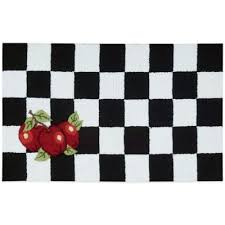 Attractive Black And White Kitchen Rug Modern Buy From Bed Bath Beyond Throughout 10