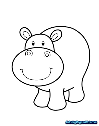 Cute Hippo Coloring Pages Free Printable Coloring Pages