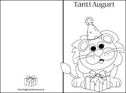 Biglietti Auguri Compleanno Da Stampare E Colorare Lacurt
