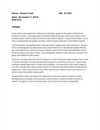 speech criticism essay essay template on critique of speech or preseantation
