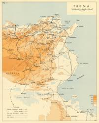 Details About Tunisia In 1942 Operation Torch World War 2 1966 Old Vintage Map Plan Chart