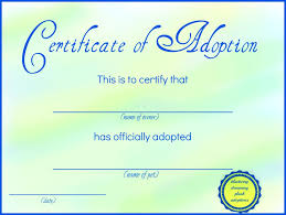 Pet Adoption Certificate Template Made To Look Academic And Official This Free Printable
