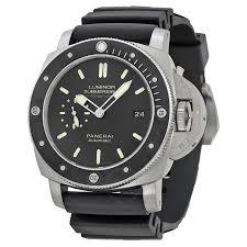 panerai watches jomashop panerai luminar submersible 1950 amagnetic black dial black rubber men s watch