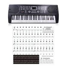 61 Key Keyboard Note Chart Amazon Com 88 Keys 61 Keys 54 Keys Transparent Piano