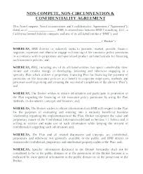 Nda Non Compete Template Non Disclosure Non Circumvention Agreement Template