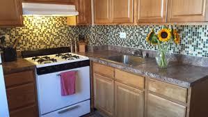 Vinyl Kitchen Backsplash Interior Beautiful Sticky Backsplash Tile Bufslby Amazon Com