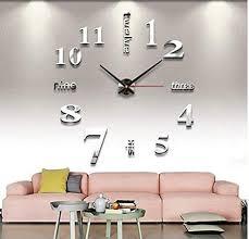 new 3d wall clock brief cartoon bear ride a bike for living room 28cm acrylic nordic quartz watch home decor