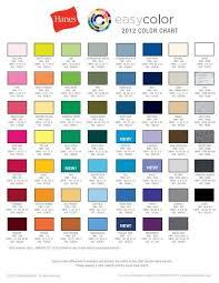 2012 Color Chart Hanes