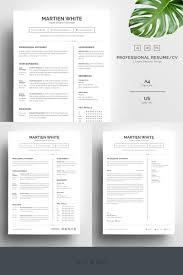 Martien White Professional Resume Template 67730