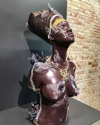 Artist Damien Hursts Nefertiti Rihanna Bust Featured At The