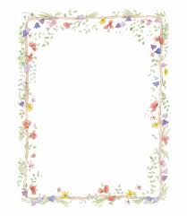 Frame For Word Flowers Frame Colours Flower Border Word Free Png Images