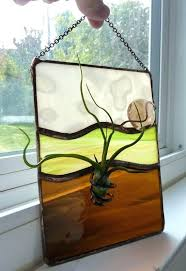 stained glass stained glass hangers panel air plant holder of the earth cool ideas panels