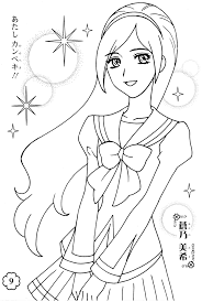Small Picture Pretty anime girl coloring pages ColoringStar