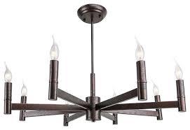 lnc 8 light industrial linear chandelier bronze finish stylish edison lamp
