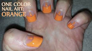 One Color Nail Art: Orange - YouTube