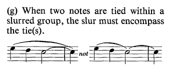 A slur is indicated by a curvy line that begins at the first note of the slur group and continues to the last note. Entering Slurs In Finale Making The Most Of Notation Software