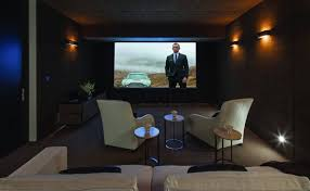 theater room lighting. Small Home Theater Room With Black Walls And Wall Sconces Plus Viewing Gallery Lighting W