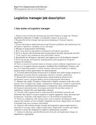 management specialist resume cover letter for logistics job supervisory -  Logistic Supervisory Management Specialist Resume
