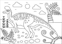 Lambeosaurus Hadrosaurid Dinosaurus Kleurplaat Gratis Kleurplaten
