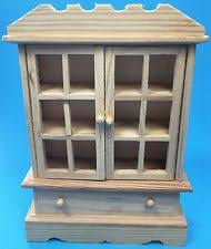 unfinished dollhouse furniture. Item 3 Miniature Dollhouse Furniture Cabinet Curio Doors Drawer Unfinished Wooden New -Miniature L