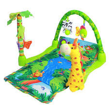 Baby Gift Rainforest Musical Activity Play Gym Toy Soft Mat + Hook Y