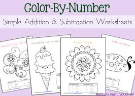 Free printable subtraction worksheets for kids help the kids in learning math by using our elementary math worksheets which is focused on subtraction. Simple Addition And Subtraction Color By Number Worksheets Mamas Learning Corner