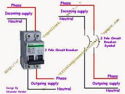 how to wire a double pole circuit breaker wiring of double pole circuit breaker
